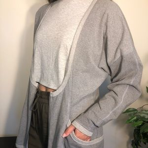 Grey lululemon half zip cardigan